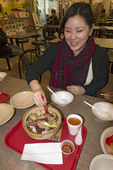 Eating clay pot rice...way more than just rice in a Richmond BC Asian café.