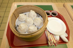 REALLY tasty soup dumplings in an Asian food stall in a Richmond, BC shopping mall.