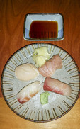 Top quality sushi (raw fish) at Sushi Hachi in Richmond, BC, Canada.