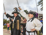 Pirates celebrate Contraband Days in Lake Charles, Louisiana, celebrating the days of pirate Jean Lafitte.