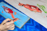 Fish painting at Arts' Desire in Lake Charles.