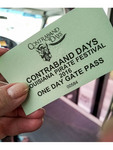 Ticket for Contraband Days in Lake Charles, Louisiana
