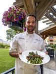 Executive Chef Adair Scott with his asparagus and morel mushroom appetizer