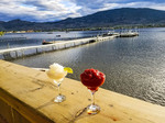 Sundown at Spirit Beach Cantina in Osoyoos, BC. A touch of Mexico, complete with Margaritas.