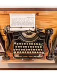 Ernest Hemingway's actual typewriter used to write his stories, on display in his one time home that is now a museum.