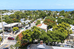 View from the top of the Key West Lighthouse museum, built in 1848.
