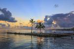Sunrise at Faro Blanco Resort and Yacht Club behind the Hyatt Place on Marathon Key in the Florida Keys.