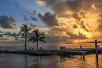 Sunrise at Faro Blanco Resort and Yacht Club behind the Hyatt Place on Marathon Key in the Florida Keys.