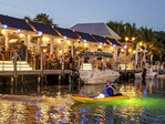 Taking off for a night paddle on salt flats to see the underwater critters of Ibis Bay in Key West, Florida.