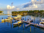 View from the top of the lighhouse at Faro Blanco Resort and Yacht Club in Marathon in the Florida Keys.