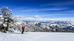 View from the top at Bogus Basin, the ski resort outside Boise, ID.