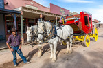 Stagecoach for tourists in Tombstone, AZ