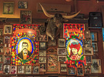 Big Nose Kate's Saloon with stained glass and lots of old west character in Tombstone, AZ.