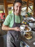 Farmer and chef Mitchell Morse, owner of Fickle Fig Farm outside Victoria, BC, Canada