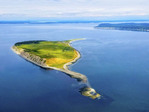 An island in the San Juan Islands off the NW Washington coast.