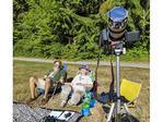 Set up to watch the solar eclipse on Aug. 21, 2017 outside Seattle, WA.
