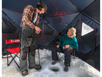Ice fishing on Heffley Lake near Sun Peaks Resort with Elevated Fishing Adventures.