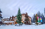 Sun Peaks Resort village. British Columbia, Canada
