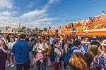 The crowd at Richmond Night Market in Richmond, BC, Canada.