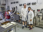 Dominique and Cindy Duby, owners of Wild Sweets in Richmond, BC, Canada. Where science meets yummy chocolate.