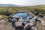 Shepherd's Tub, a hot spring near Crowley Lake outside Mammoth Lakes, CA.