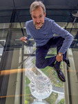 """Richard Green, the """"glass expert,"""" whose company, Front Consulting, designed the glass floor and observation deck for the renovated Space Needle."""