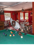 Inside a poolhall in Bridgetown, Barbados in the Caribbean.