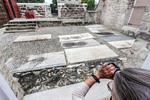 Gravestones at Jewish cemetery in Bridgetown, Barbados.