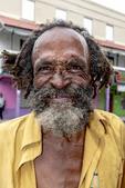 Elderly man on the street in Bridgetown, Barbados.