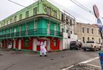Street scene in Bridgetown, Barbados in the Caribbean.