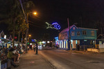 Street scene outside the famous Oistins fish fry which happens Friday and Saturday night in Barbados.