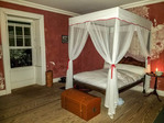 Restored bedroom occupied by George Washington at the house he and his ailing brother occupied in Bridgetown, Barbados.