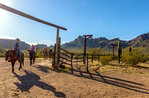 Guests on breakfast ride at White Stallion Ranch, a dude ranch just outside Tucson, AZ.