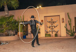 Western star Loop Rawlins does rope tricks at White Stallion Ranch, a dude ranch outside Tucson, AZ.
