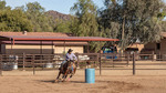 Weekly rodeo at White Stallion Ranch, a dude ranch outside Tucson, AZ. Barrel racing