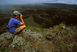 Ted Cheeseman on rim of Sierra Negra volcano (4,890 ft.), Isabela Island 