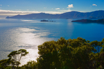 Queen Charlotte Sound, Marlborough Sounds, seen from top of Motuara Island