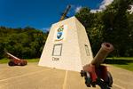 Monument commemorating Captain James Cook, Ship's Cove, Marlborough Sounds