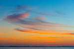 Sky over Captiva Island and Pine Island Sound at sunset