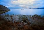 M/V Galapagos Legend off Rabida (Jervis) at sunset