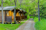 cabins at Brooks Camp, world-famous fishing and bear-viewing spot