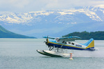 Katmai Air floatplane landing on Naknek Lake