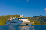 Clipper Odyssey anchored in Queen Charlotte Sound