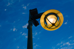 Streetlight at dusk, St. Armands Circle, St. Armands Key