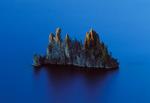 Phantom Ship (small island) seen from crater rim