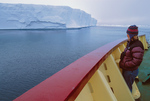 On deck, icebreaker MV Polar Star passing large tabular berg
