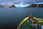 MV Polar Star headed for Neptune's Bellows (exit from caldera)