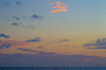 Clouds over Gulf of Mexico at nightfall