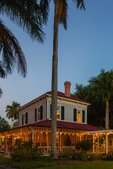 "Edison's ""Seminole Lodge"" with Christmas lights"