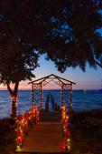 Edison Estate's derelict dock decorated for Christmas, Caloosahatchee (River)